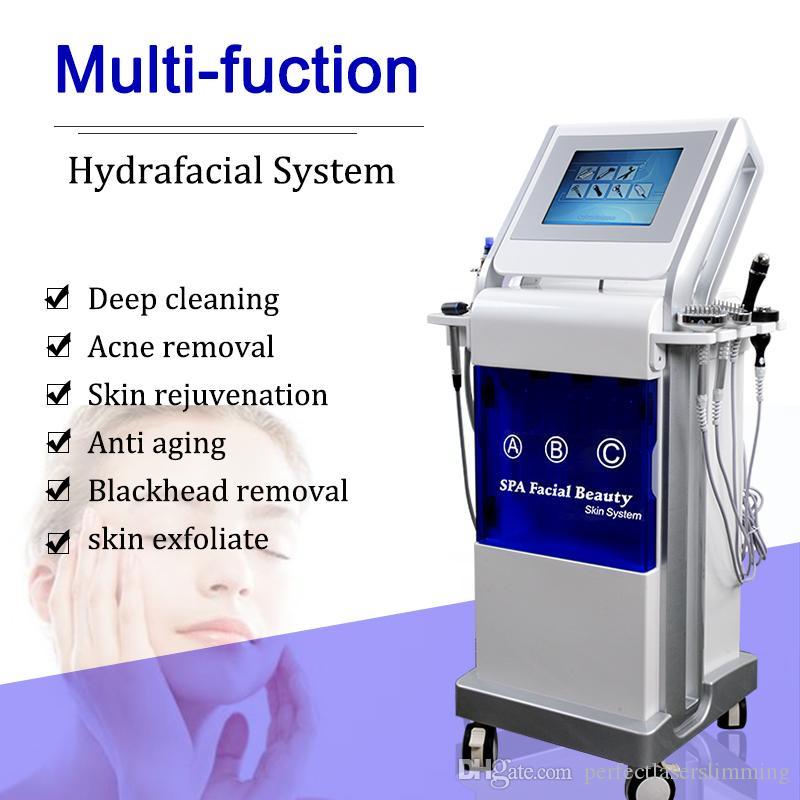 kırışıklık kaldırma cilt temizleme deri temizleyici elmas için 9, 1 Profesyonel Hydrofacial microdermabrusion oksijen yüz makinesi