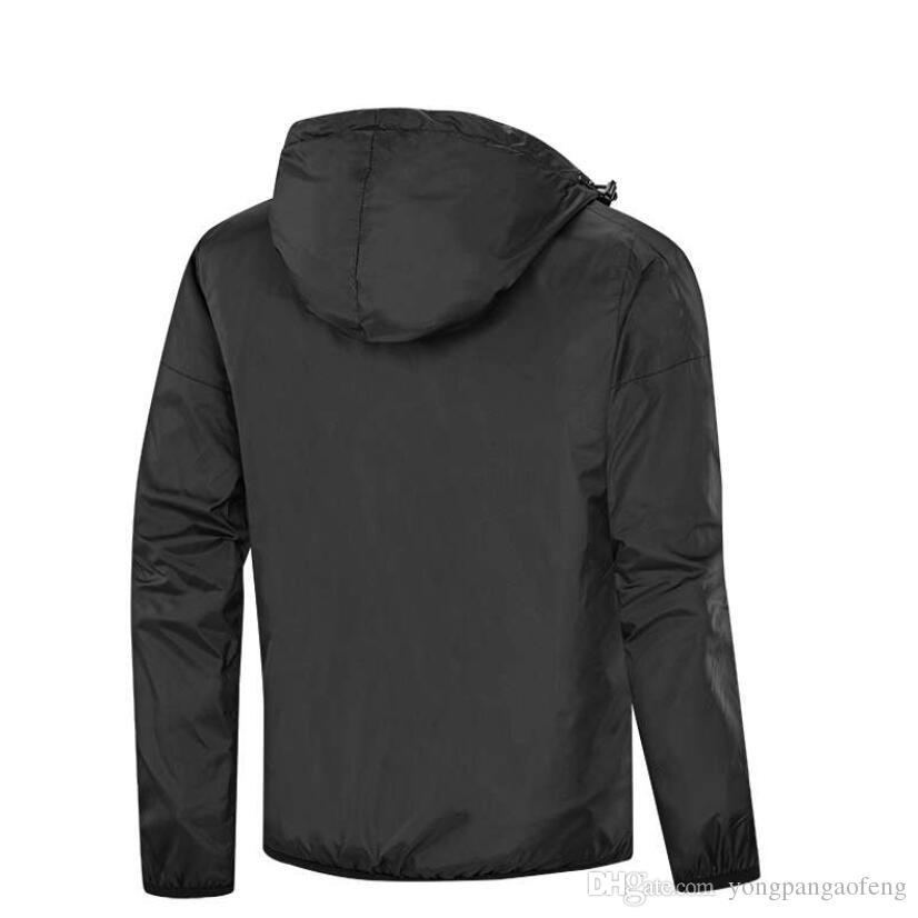2019 homens e mulheres da moda pulôver do hoodie amante outono fino windrunner luz blusão frete grátis zipper jaqueta de moletom com capuz L-4XL 2067