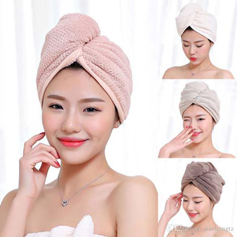 2020 Microfiber Hair Fast Drying Towel Bath Wrap Hat Quick Drying Cap  Turban With Button Design, Women Bath Super Absorbent Dryer Hair Towel From  Jiachengtz, $2.66   DHgate.Com