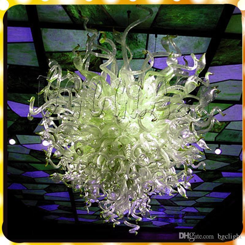 Bright White Crystal Modern Murano Hanging Lamp Hand Blown Murano Art Led Glass Chandelier Lighting For livingroom and bedroom