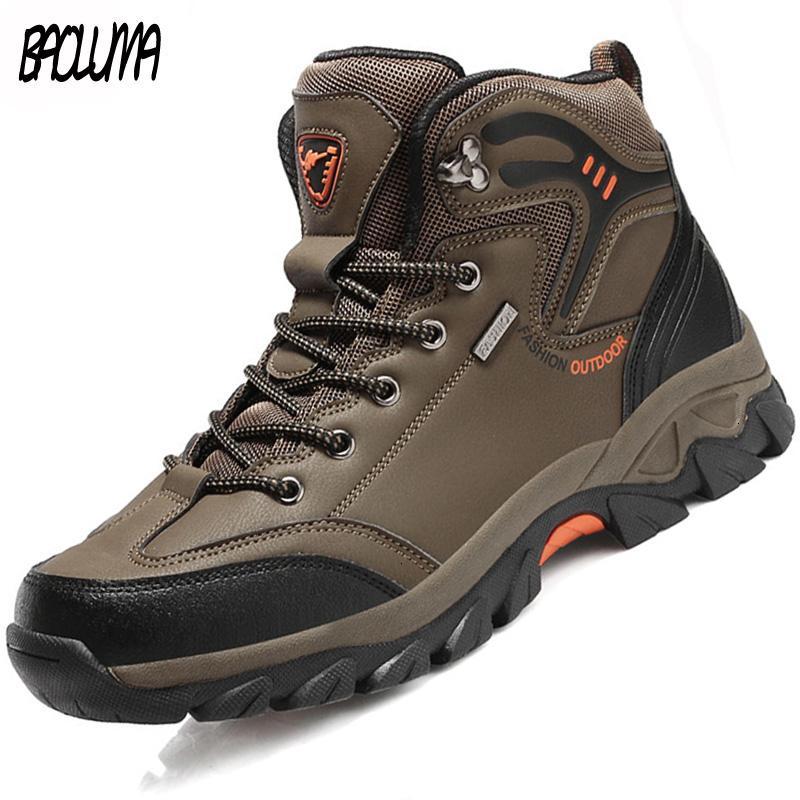 Autunno lavoro degli uomini di lusso di marca degli uomini esterna impermeabile punk Sneakers uomo caviglia Desert boots calzatura WideMX190907