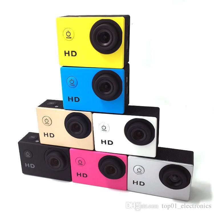 1080P Full Action Digital Sport Camera 2 Inch Screen Under Waterproof 30M DV Recording Mini Sking Bicycle Photo Video Camera 10pcs/lot