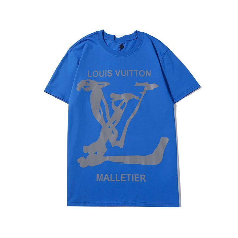 ## 2020 monograma de la letra impresa geométrica diseñador de la camiseta de la moda t camisa del verano ocasional de la calle tee mujeres de los hombres de manga corta HFHL