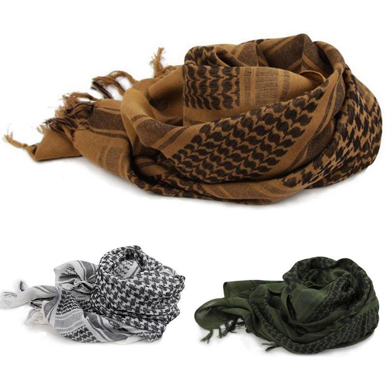 Tactique désert écharpe arabe tête Wrap écharpe chef militaire Femmes Foulard