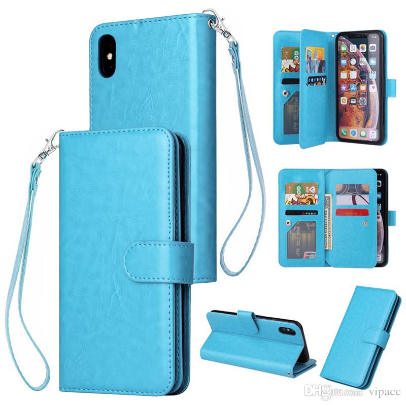 Luxury Designer Phone Case Retro Flip Stand Wallet Leather Case Holder Card Slot Photo Frame Cover For iPhone XS MAX XR 8 Plus