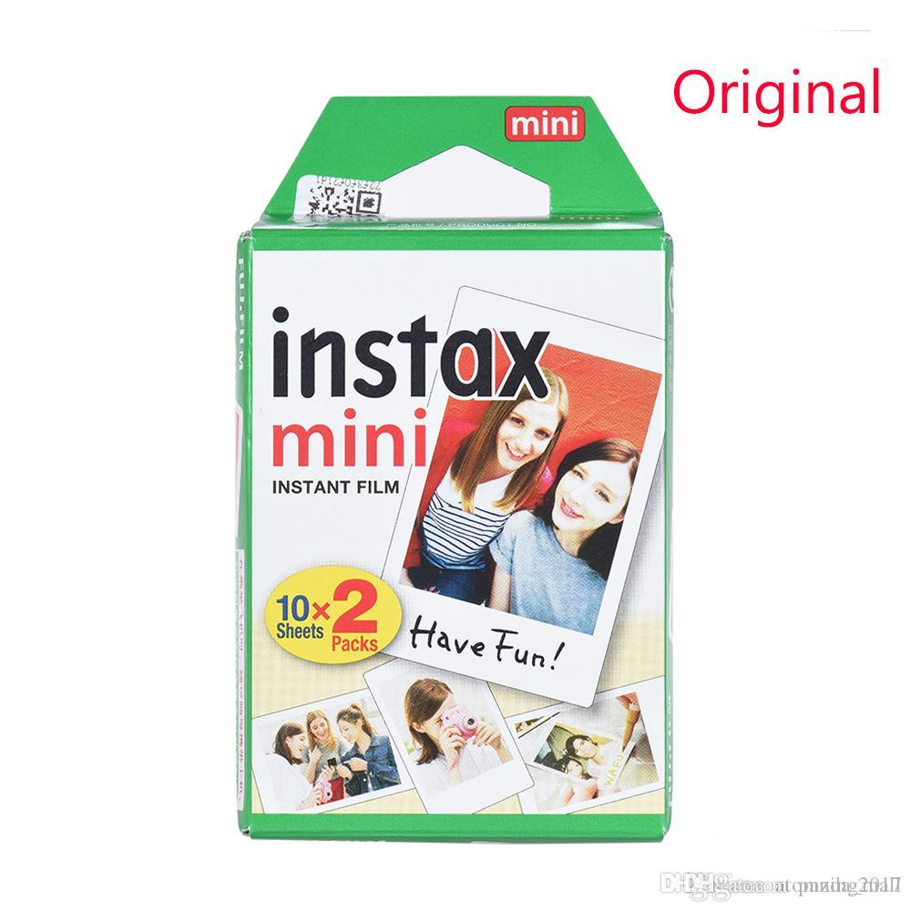 Newest 20pcs/box Original Instax White Film Intax For Mini 90 8 25 7S 50s Polaroid Instant Camera DHL free