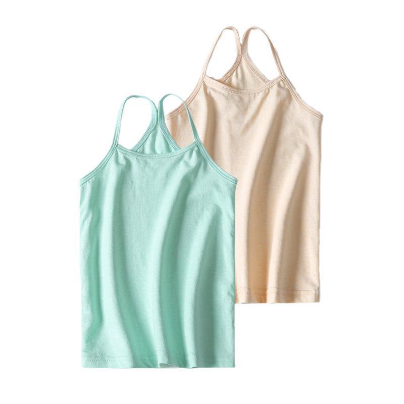 Filles Petit Salopette shirt coton de couleur Waistcoat enfants Organic Sous-vêtements Little Girl étudiants Big Boy fabricants Camisole