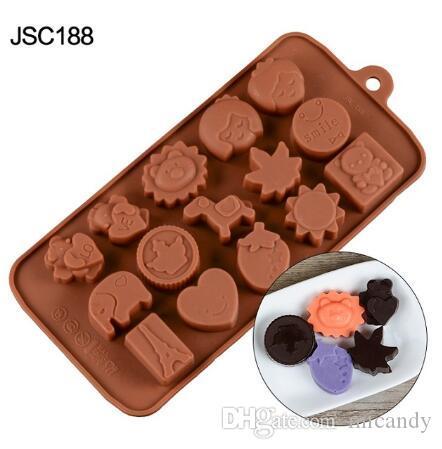 3d الشوكولاته العفن سيليكون قوالب الشوكولاتة للخبز nonstick جيلي بودنغ القالب القالب diy مطبخ خبز