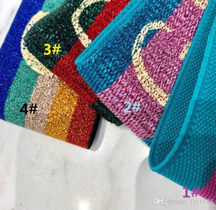 مصمم مطاطا العصابة للنساء والرجال أفضل جودة العلامة التجارية الأخضر والأحمر مخطط العصابات الشعر وشاح الرأس للأطفال headwraps الهدايا