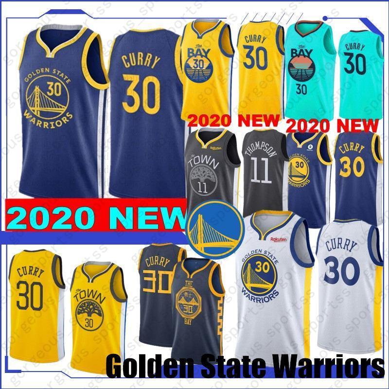 새로운 스타일 19 (20) 스티븐 (30) 카레 농구 유니폼 Draymond (23) 녹색 Klay 11 톰슨 앙드레 9 최고 품질 스티치 유니폼 lguodala