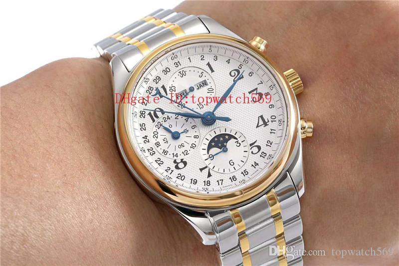 Cristal de zafiro nuevo Master Collection L2.773.4.78.6 reloj de diseño de relojes suizos 7751 calendario anual cronógrafo automático Fase de la luna