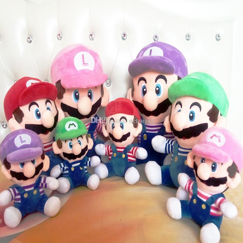 2020 New Super Mario Mushroom Hero Plush Toy Dolls Have Four