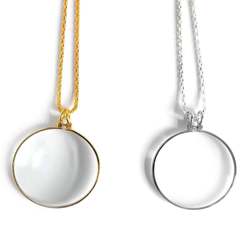 Cadena 1PCS nuevo 5X Collar de aumento lupa lupa de lectura monóculo colgantes para las personas de edad Hombres Mujeres