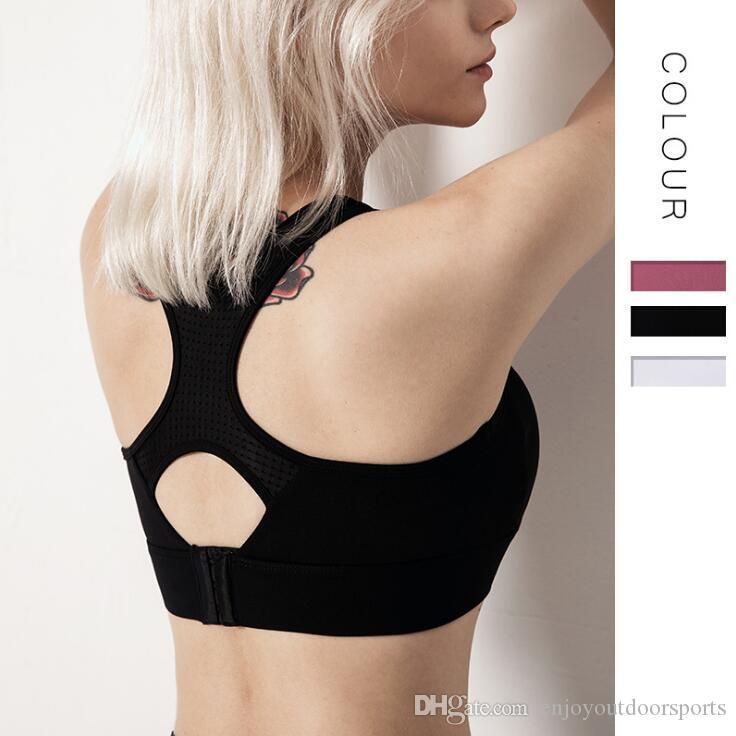White Women's Sport Bra Push Up Workout Yoga Bra Sports Shirts Gym Crop Top Academia Wear Fitness Brassiere Vest Tank Women's Sportswear #69