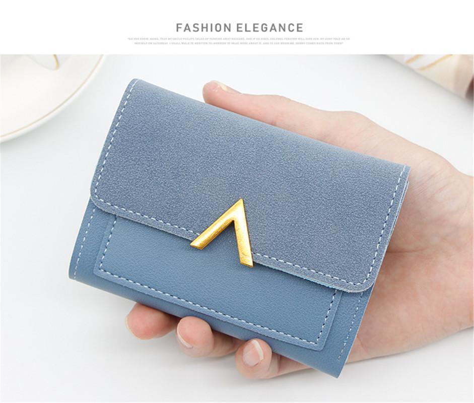 Çanta tasarımcısı Çantalar Yeni Basit Bayan Cüzdan Kısacası 3 Fold Çanta Cüzdan ile Çok fonksiyonlu Çok kart Çanta Lüks Cüzdan Sıcak Moda
