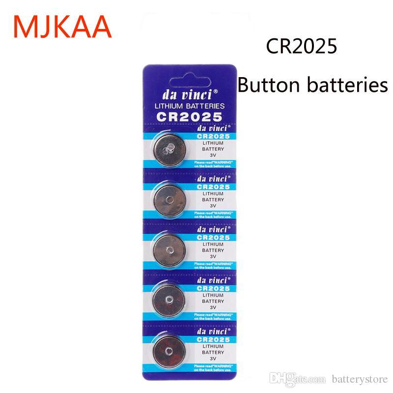 مصنع تبيع 100 زر PCS 3V CR2025 CR 2025 ليثيوم ووتش ساعة البطارية عملات Celula بيلاس لوتش لعبة حاسبة ECR2025 BR2025 DL2025