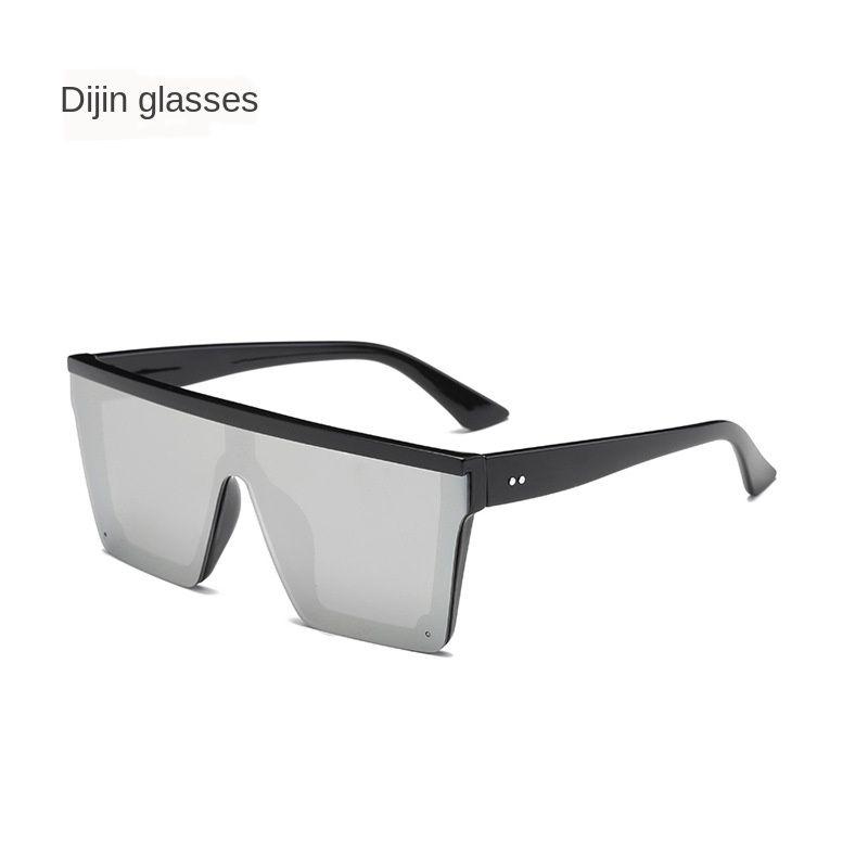 Kadınların moda klasik güneş gözlüğü oculos de sol için yeni modern şık erkek güneş gözlüğü düz üst kare tasarımcı gözlük