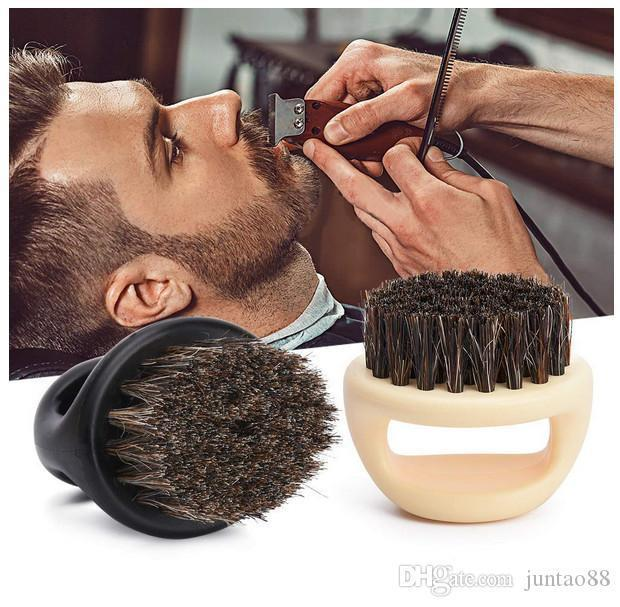 Beard Brush Comb Mustache Shaving Brush, Plastic Portable Barber Salon Facial Cleaning Razor Brush Styling & Grooming Tool