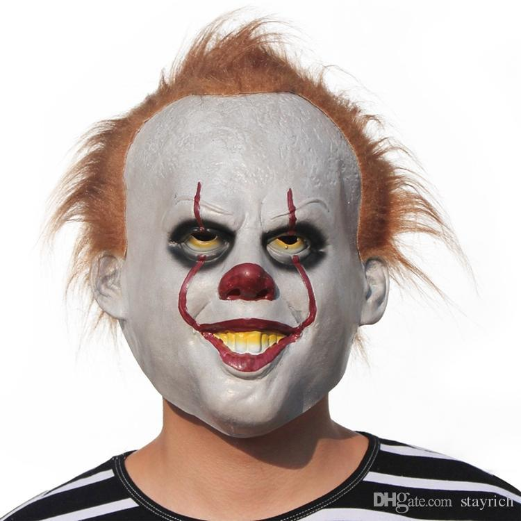 Le masque de latex Film Shell Il Pennywise de Stephen King Masque Effrayant Halloween Masque Cosplay Il Clown Party Latex Prop Masques