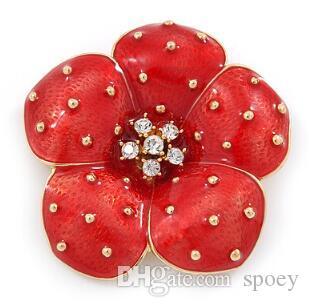 De nouvelles délicatesse d'arrivée Femmes goutte à goutte rouge Broche Accessoires Vêtements Party Pins Prom femmes pin Boutonnière 2