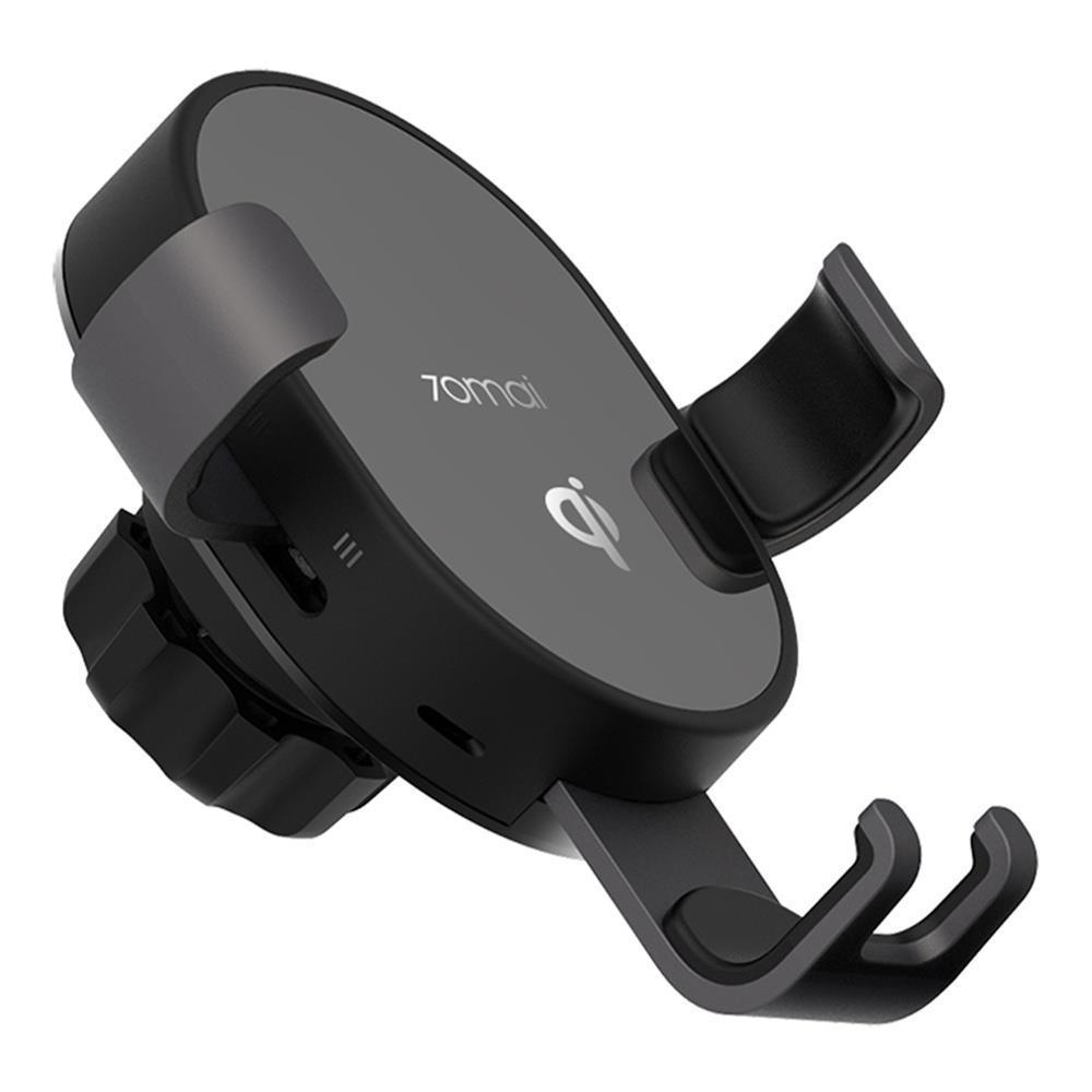 70mai Qi Kablosuz Araç Şarj 10W Akıllı Sensör Telefon Tutucu - Siyah