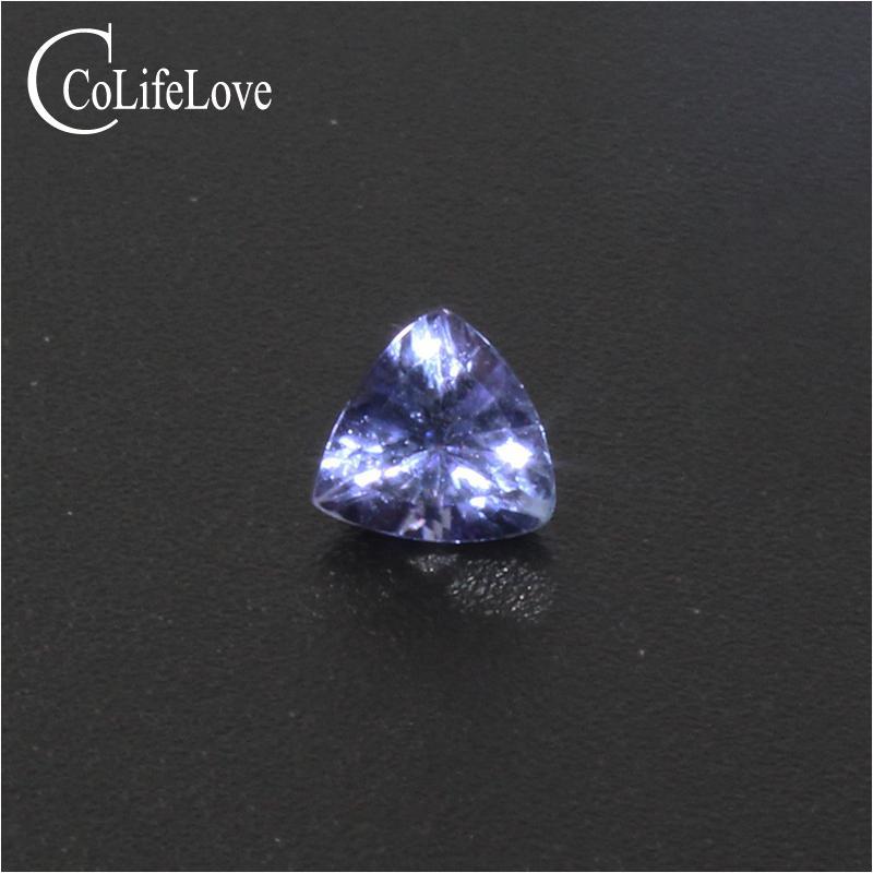 5.5 мм * 5.5 мм 100% реальный природный танзанит для обручального кольца делая оптовая цена триллион вырезать танзанит драгоценный камень