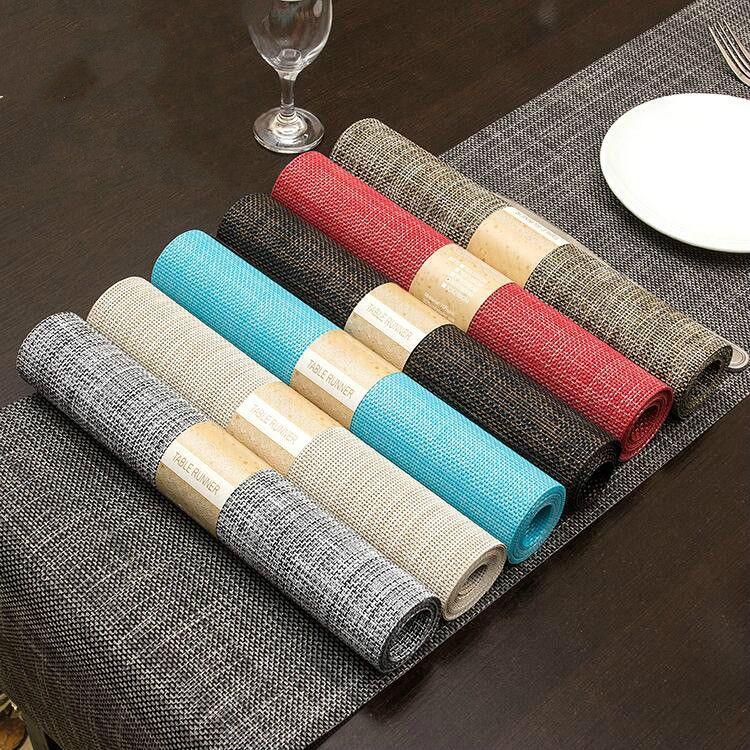 Solid Color Esstisch Kissen 30 * 135cm Bar Abdeckung Handtuch Umweltschutz Verbundgarn Hotel Restaurant Supplies