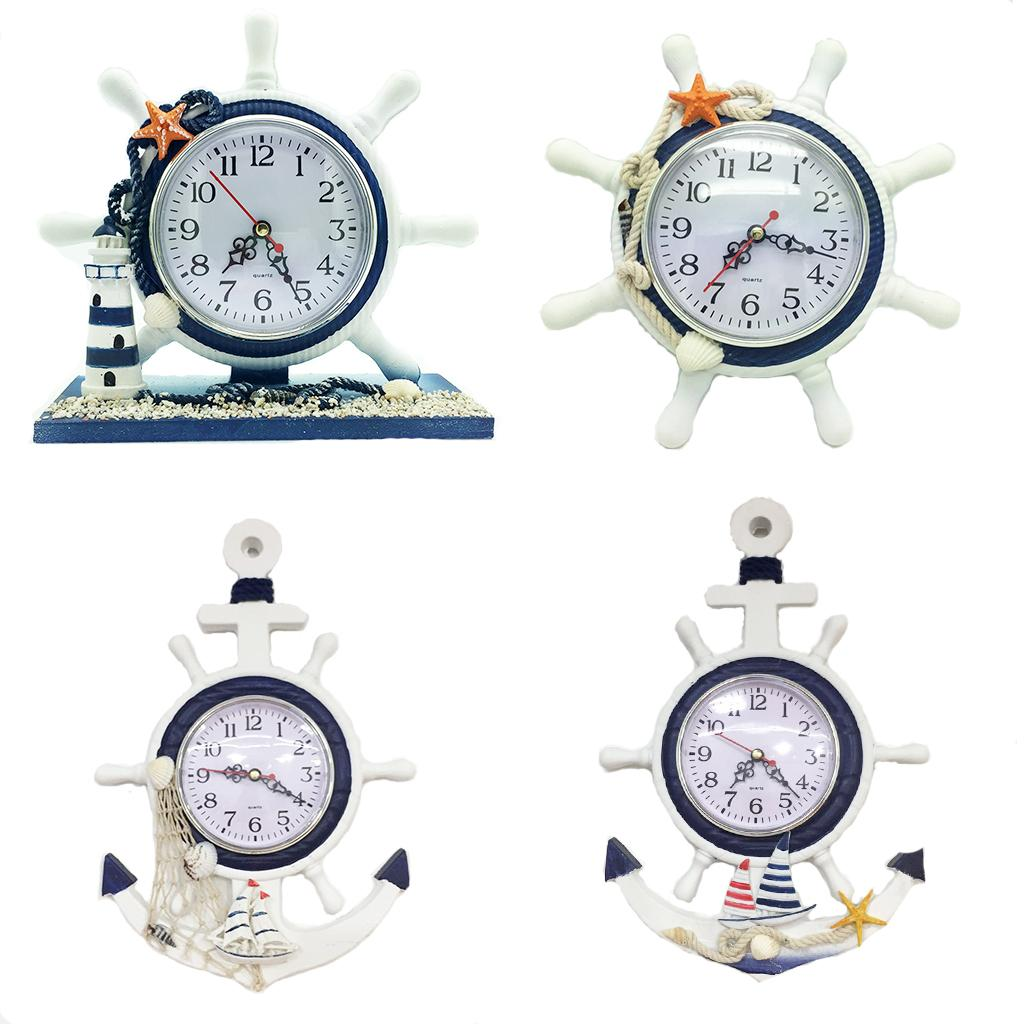 nautical bar decor.htm mediterranean style wood anchor clock hanging wall clock ship  mediterranean style wood anchor clock
