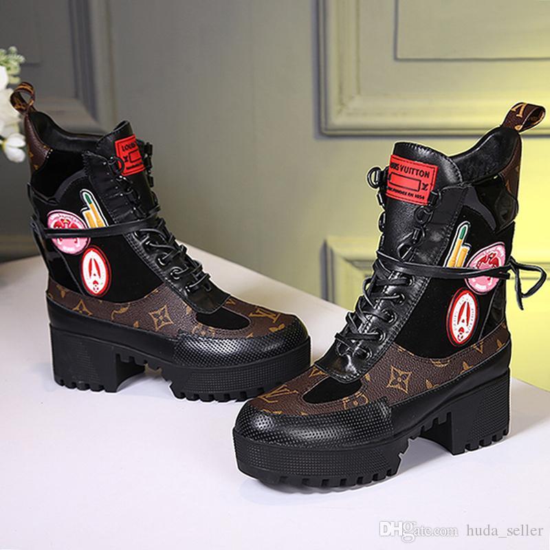 Laureate Platformu Desert Boot Kadın ayakkabı Bırak Gemi Yüksek Kalite Kadınlar Boots Rahat Dantel-up Lüks Artı boyutu Moda Kadın Ayakkabı