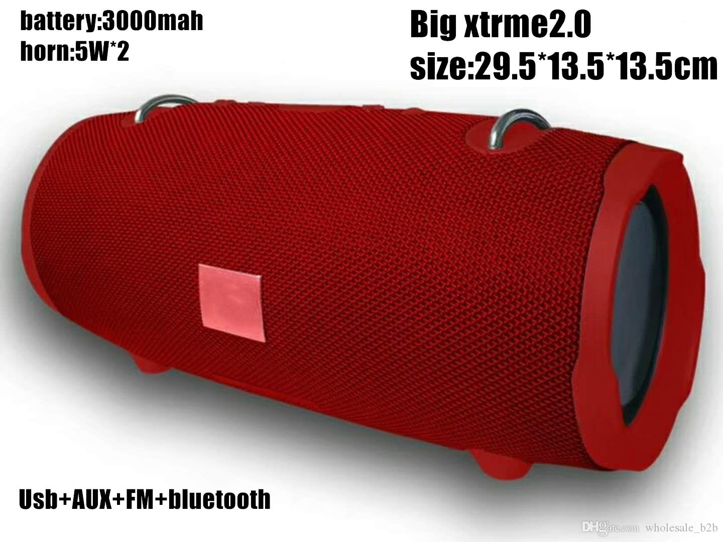 Factory direct sell xtrme2.0 bluetooth speakers 6color in stock 5W*2 big size wireless speaker portable Series playback