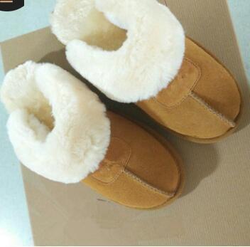 DORP ENVÍO 2020 WGG zapatillas de algodón caliente de los hombres y de las mujeres de los deslizadores de las mujeres botas de nieve botas de diseño zapatillas de algodón cubierta