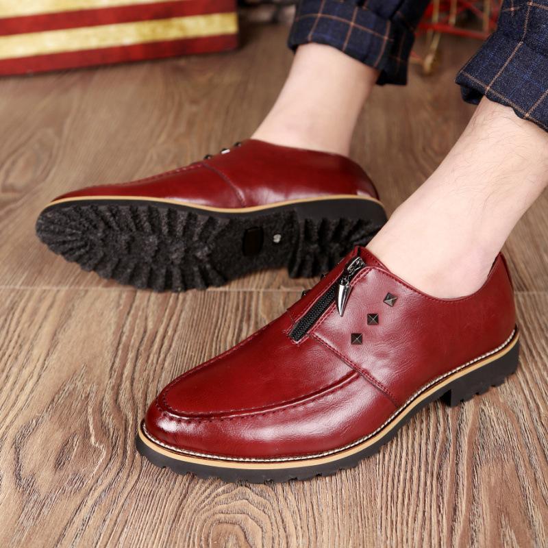 Ebullient2019 Deri Adam Ayakkabı İngiltere Keskin Bez Locke Oyma Atın Tırnak Ile Sezon Tek Ayakkabı