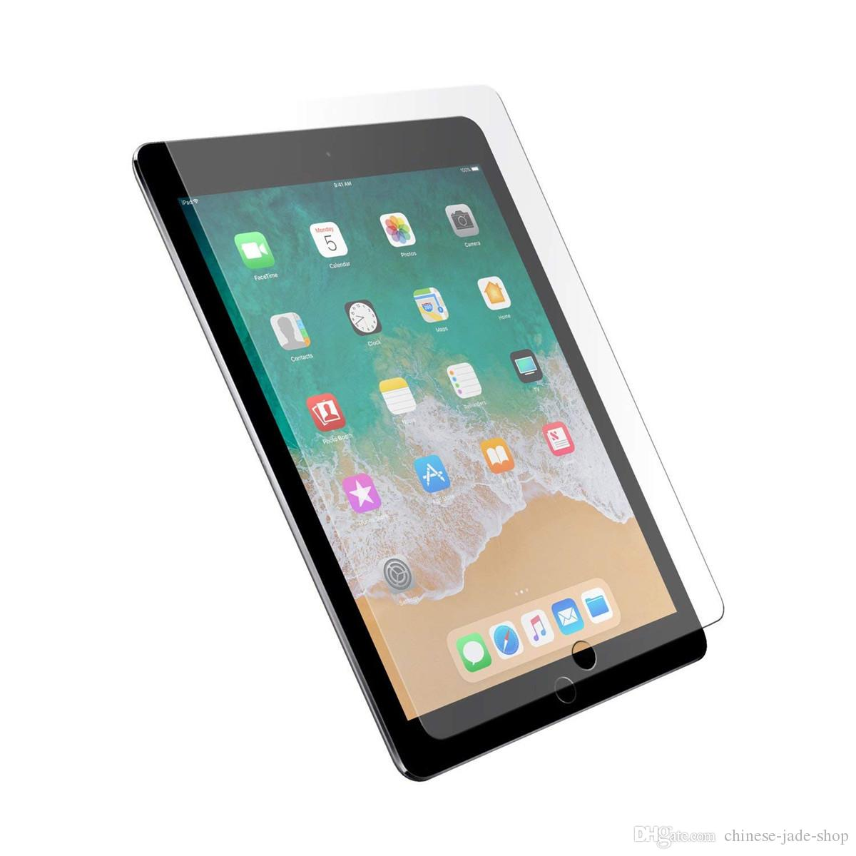 9H Protecteur d'écran en verre trempé pour iPad 10.2 2019 1/2/3 AIR 1 AIR 2 iPad 2017 2018 Pro 10.5 iPad Pro 11 Pas de colis 500pcs / lot