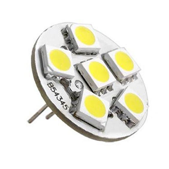 6 SMD LED Lamp G4 12V DC Spot Light Bulb Warm White