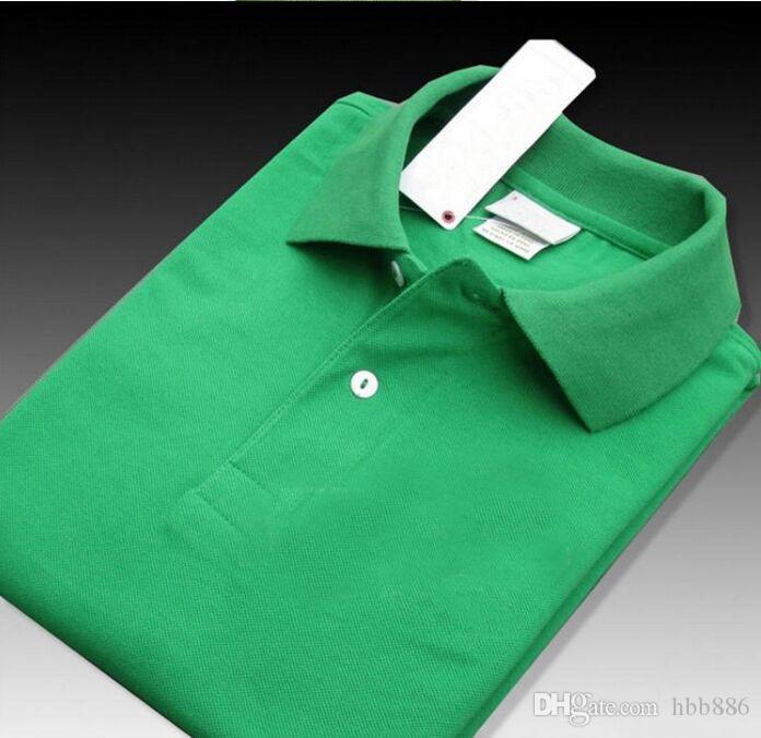 New Brand 2019 Big piccolo cavallo coccodrillo ricamo Polo a maniche corte uomini camice casuali Polo Solid dell'uomo Camisa Polo