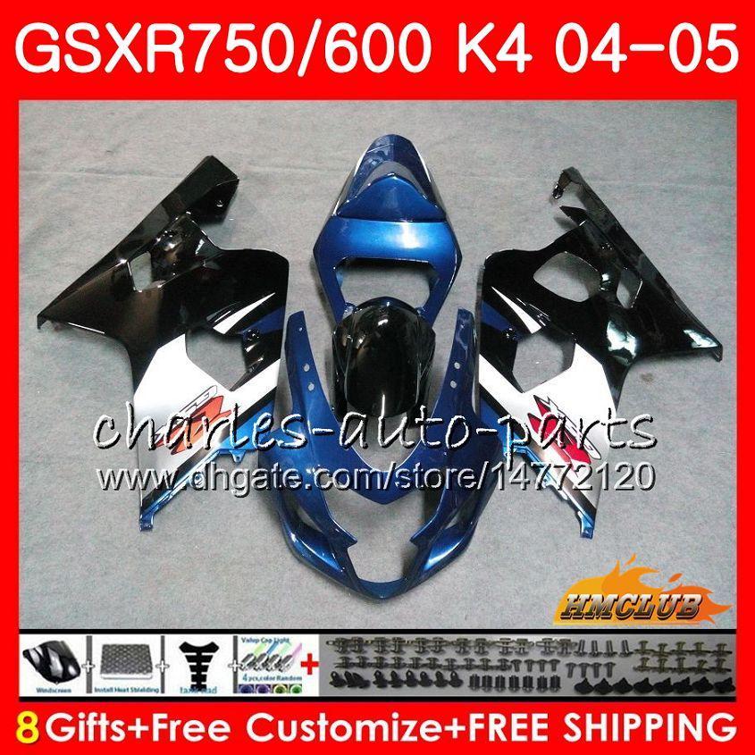 스즈키 GSX R600 R750 GSXR600 GSXR750 GSXR 600 750 04 05 7HC.84 GSXR750 GSXR750 K4 GSXR600 04 05 2004 2005 파란색 공장 정형은 들어 키트