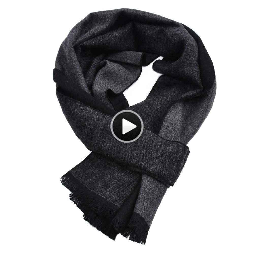 Design Casual Scarves Winter MenS Cashmere Scarf Warm Neck Striped Business Modal Scarves