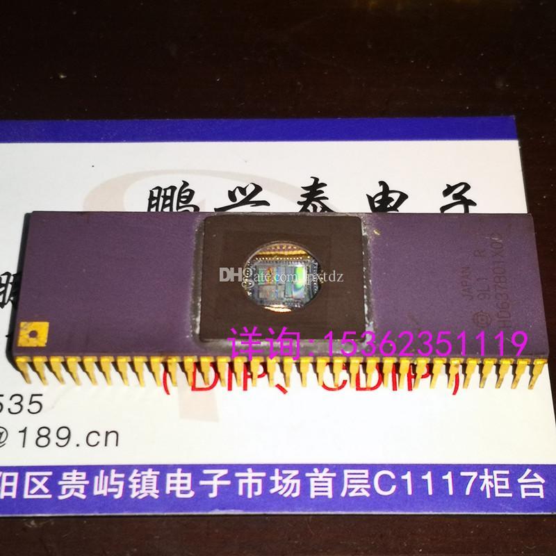 HD637B01X0C, finestra rotonda CDIP64 Doppio rivestimento in oro a 64 pin in ceramica con rivestimento in oro. UVPROM, MICROCONTROLLER vintage a 8 bit. HD637B01XOC