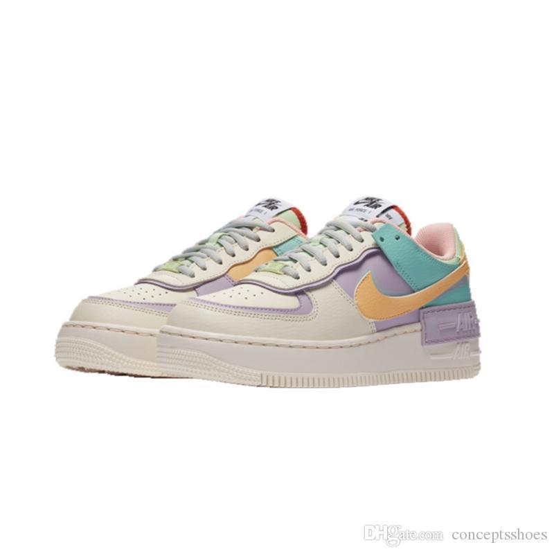Compre Nike Air Force 1 Nueva Llegada De La Sombra Forzados Caramelo  Macaron Muchachas Mujeres Zapatos Corrientes 1 Sombra Deporte Dunnk  Monopatín ...