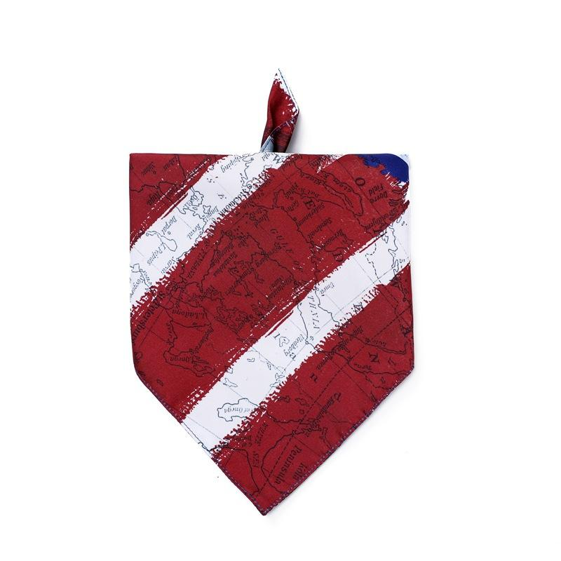 New Dog Bandana Scarf Bib independence Day Grooming Accessories Triangular Bandage Collar For Small Medium Large Pet Fashion Design