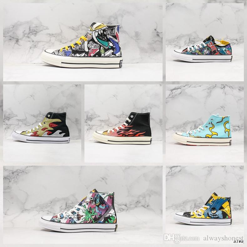 Convas Chuck 70s Canvas 1970 Sneakers Chama desenhador para Homens Mulheres Classic Canvas sapatos de desporto 1970 Sneakers para Street Vestindo
