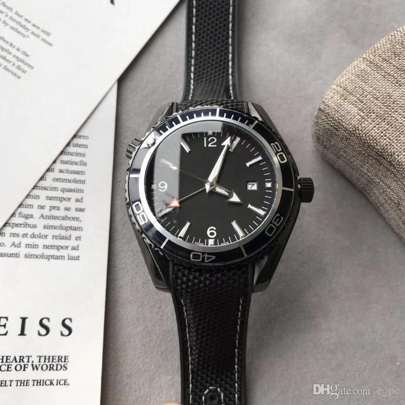 دروبشيب 44.5mm أحدث الأزياء الحصان سلسلة ساعة اليد الكون الميكانيكية الرجال ووتش بيع الصلب سوبر الياقوت محدودة الساعات عدسة suiit + هدية مربع