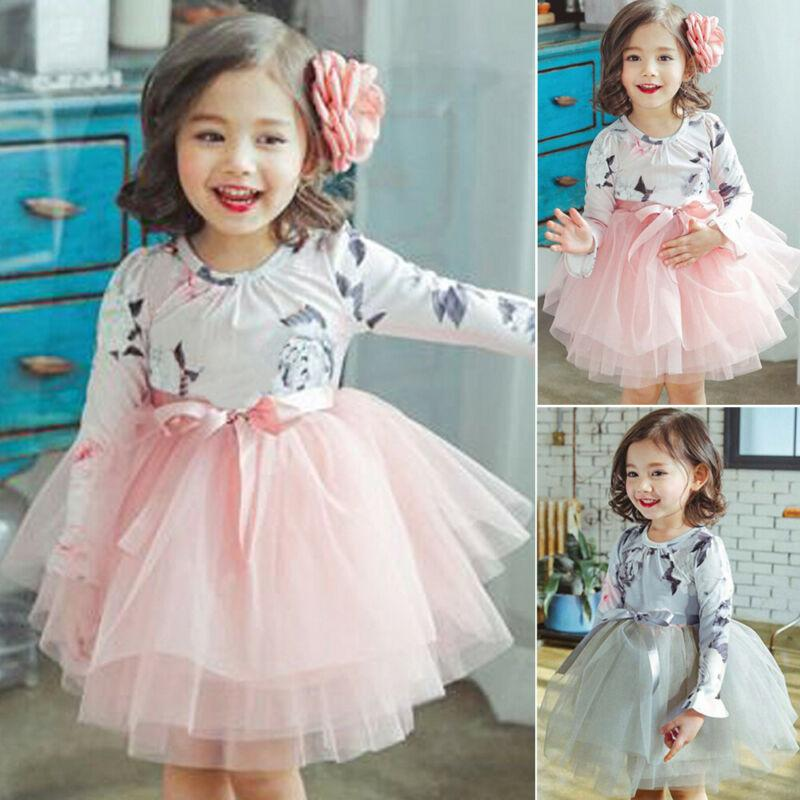 Baby Princess Dress Toddler Tutu Dress Skirt Lace Flower Girl Dancewear 2-6Years
