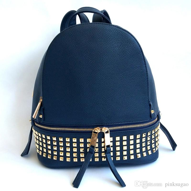 Pink sugao backpack designer backpack men and women handbags purses bookbag pu leather high quality with Mmetal 13 color choose student