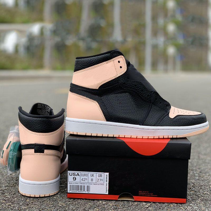 2019 zapatos de lujo de alta calidad superior 1s Og carmesí Tinte funcionamiento del baloncesto zapatos de diseño zapatos de la zapatilla de deporte de la nueva llegada 7-11