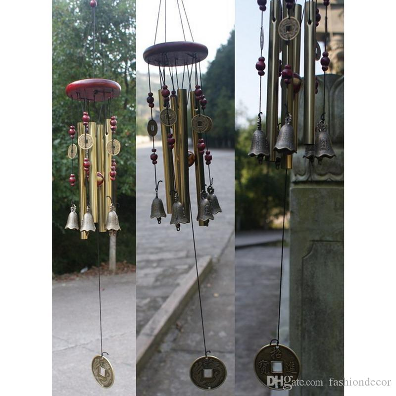 Outdoor Living Windspiele Hof antike erstaunliche Garden Tubes Glocken Kupfer Home Windchime Kapelle Glocken Wandbehang Home Decor