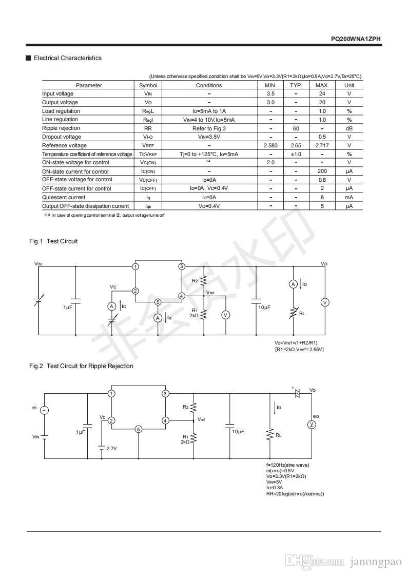 10pcs PQ200WNA1,200WNA1 faible puissance perte Régulateurs de tension