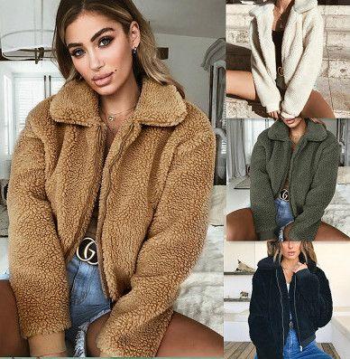 Donna Giacche caldo velluto Giacca Womens Street Fashion Persone solido di alta qualità Sexy Colore cappotto antivento 2020 Nuovo caldo