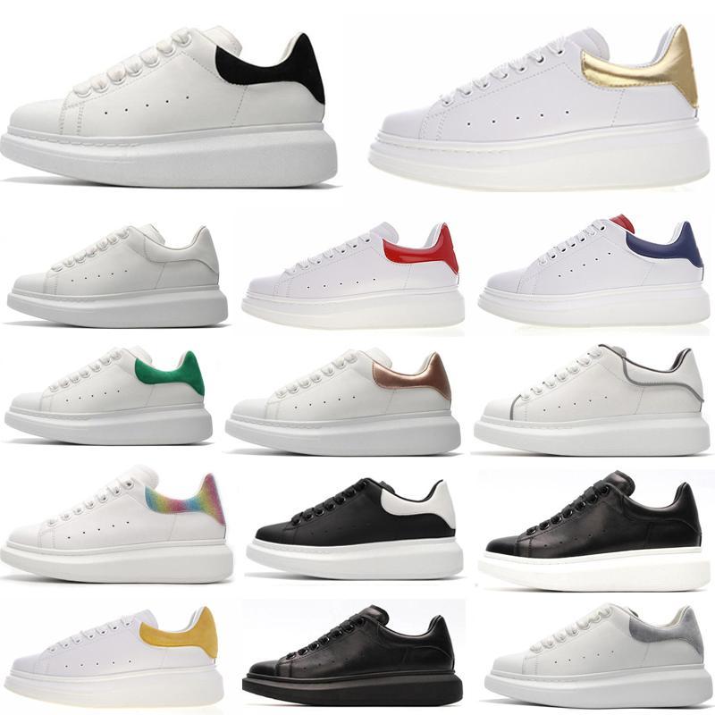 Tasarımcı Erkekler Kadınlar Sneaker Günlük Ayakkabılar Akıllı Platformu Eğitmenler Aydınlık Floresan Ayakkabı Yılan Geri Deri Chaussures Hommes # 190f0c # dökün