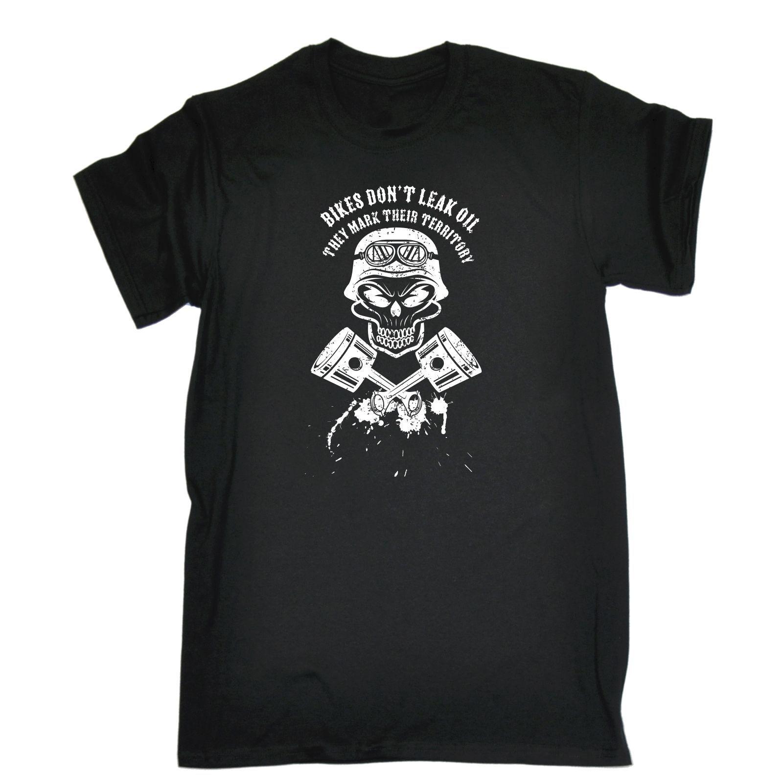 Moda-Bisikletler Sızıntı Dont Yağ Işareti Bölge T-shirt İndirim Gaz Komik Doğum Günü Hediye 2019 Yeni Saf Pamuk Kısa Kollu Hip Hop Moda